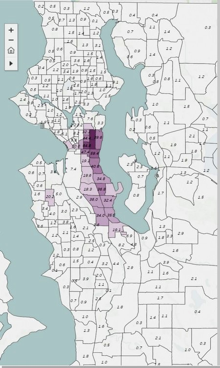 Numbered Map Of Africa.Seattle Segregation Maps 1920 2010 Seattle Civil Rights And Labor