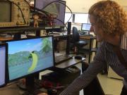 Beth buffalo with videogame uw