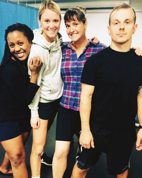 Fall quarter, 2015: Basic Clinical Skills Physical Exam with classmates: Lauren, Kate, and Jon