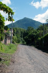 Unpaved roads of the Salvadorian town of Las Delicias.