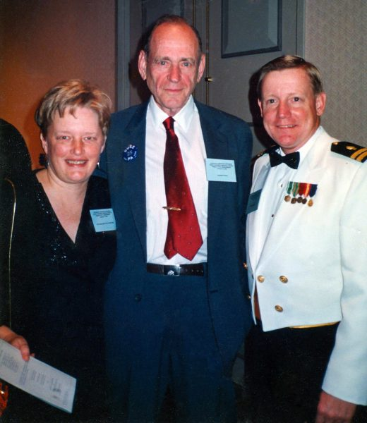Ruth, Eugene Stead and the Chief Navy PA at the Duke program's 25th anniversary.