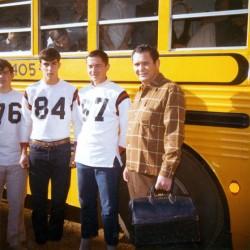 Eddie Bivens with High School Football Team