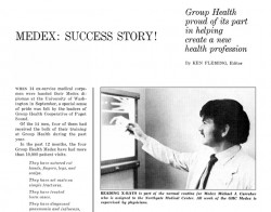 Group Health Newsletter champions MEDEX partnership