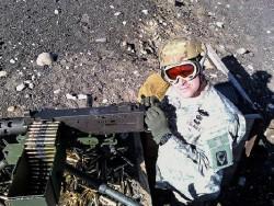 Gevin in 2009 on Machine Gun range