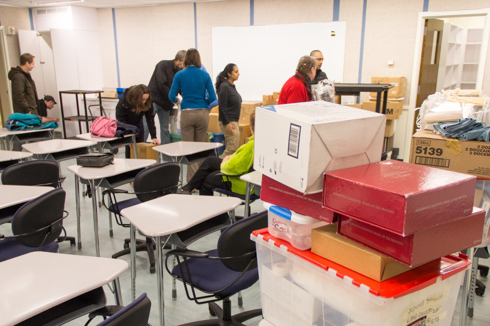 The Entire MEDEX Seattle Office Turned Out To Assist With The Move To Room  T483. Boxes Of Didactic Supplies That Had Been In Storage Since August Were  ...