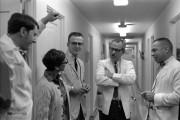 Photo of John Betz, Unidentified Nurse, Paul Synder,