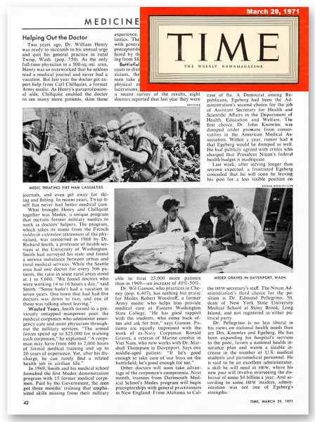 Time Magazine story from March 29, 1971
