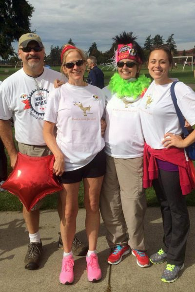 Kay Kvam (second from right) and team on the ALS Walk.