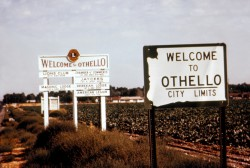 The welcome mat to Othello, Washington, in 1970.