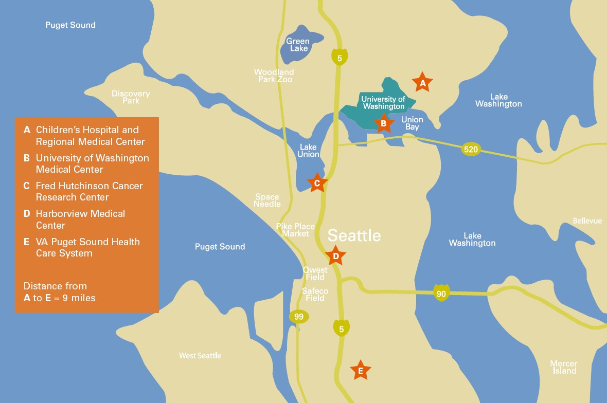 Clinical Facilities on university of wa campus map, uwmc campus map, center for washington map, seattle washington united states map, uw-washington map,