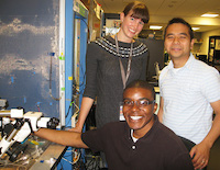 Summer Students at work in lab