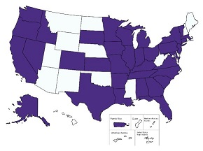 US State Map of completed applications