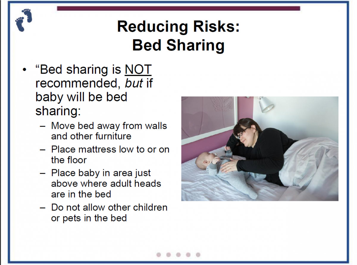 sudden unexpected infant death is increased by bed sharing