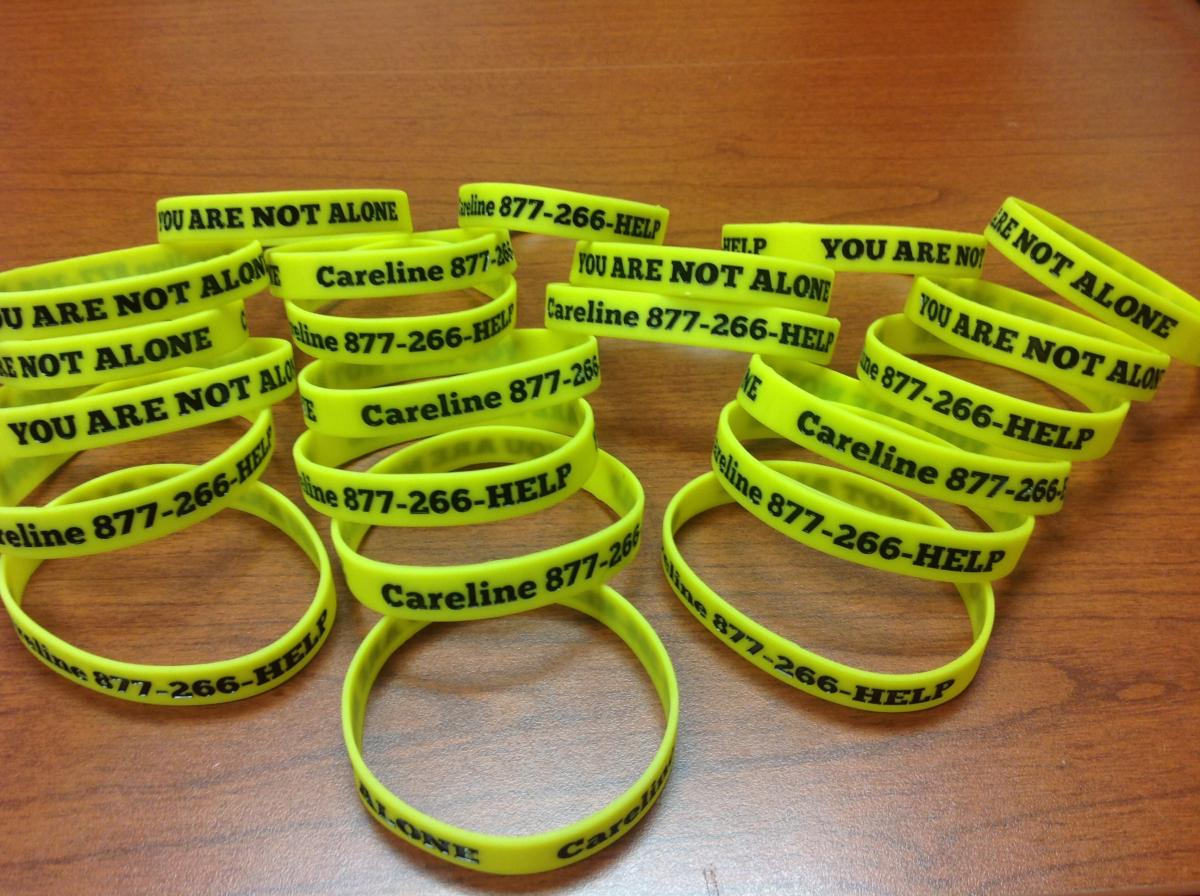 Suicide prevention bracelet for teenagers
