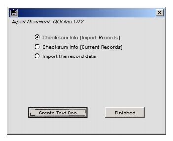 Importing TRANSFER documents