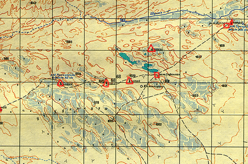 The Soviet Military Topographic Map Of The Area Of The Yumen Guan - Military topographic maps