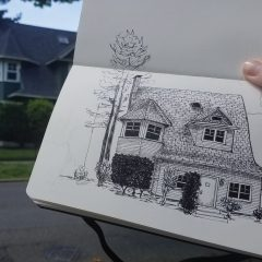 House sketch by Kelsey Aschenbeck