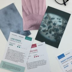 Vision impairment persona activity cards by Angela Piccolo