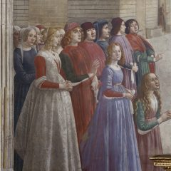 Detail of Resurrection of the Notary's Son by Domenico Ghirlandaio