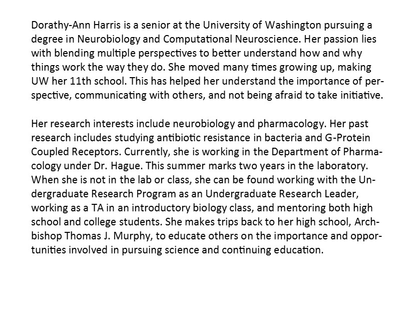 scholars uw mcnair click on the s to the student bios