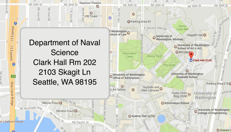 Physical Address of Clark Hall housing the Department of Naval Science