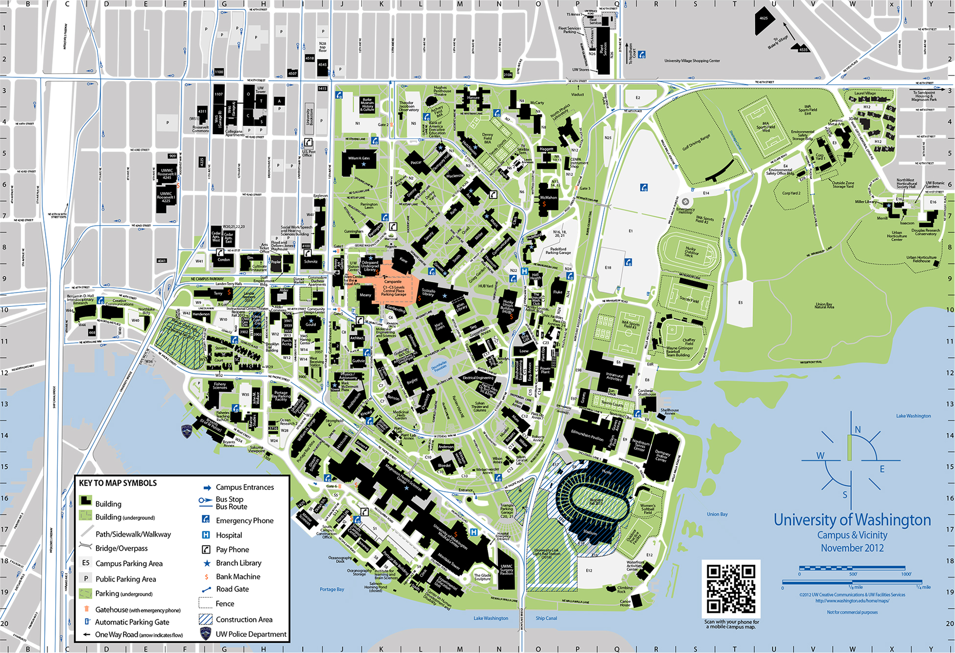 Campus Map Uw Directions and Parking | OMA&D Welcome Daze